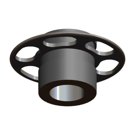 Titanmagnetics Prothesenmagnet T-Line mit Retentionsring für Silikon