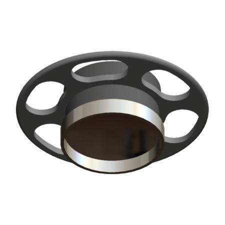 Titanmagnetics Prothesenmagnet Z-Line mit Kragen und Retentionsring für Silikon