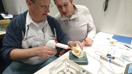 taking silicone impression on dbve meeting