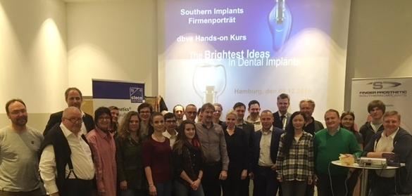 dbve Mitglieder 2016 mit Steco und Southern Implants